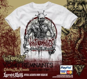 Image of VOMIT REMNANTS - White Cadaver Tshirt