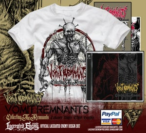 Image of VOMIT REMNANTS - White Cadaver Tshirt Bundle