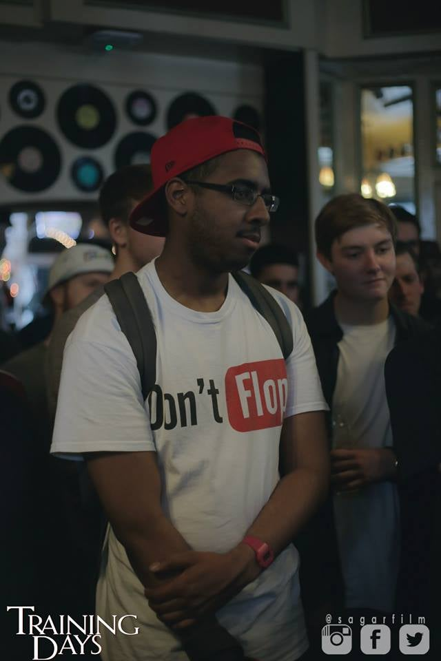 Image of Don't Flop Youtube Style Tee   White
