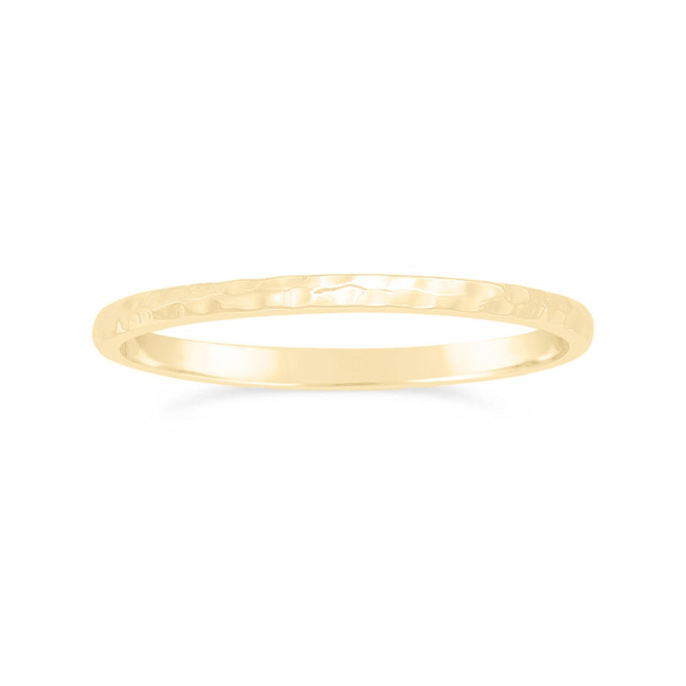 Image of Hammered Stacking Ring - Gold