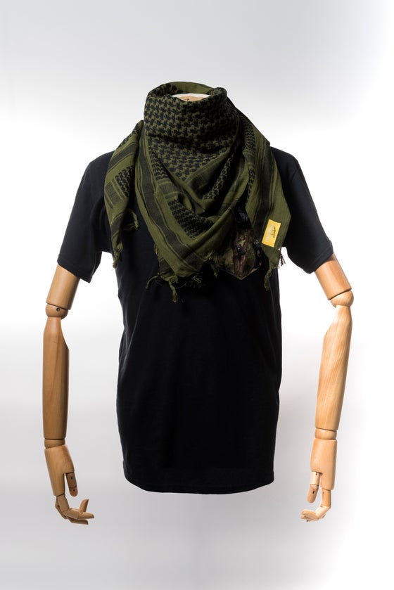 Image of Monkey Climber Shemagh Scarf I Green & Black