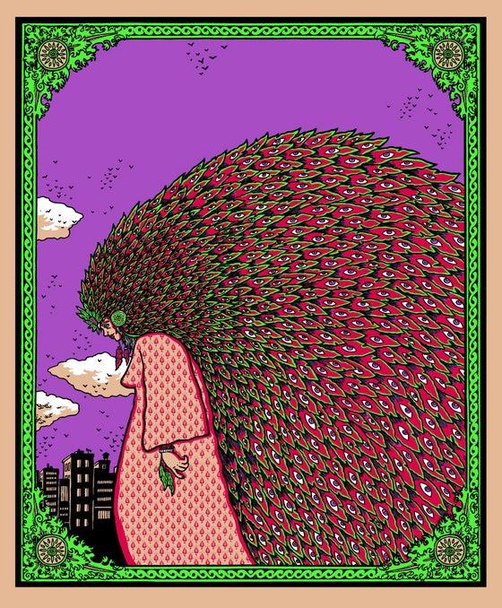 "Image of ""LADY SHE WALKS""... art print"