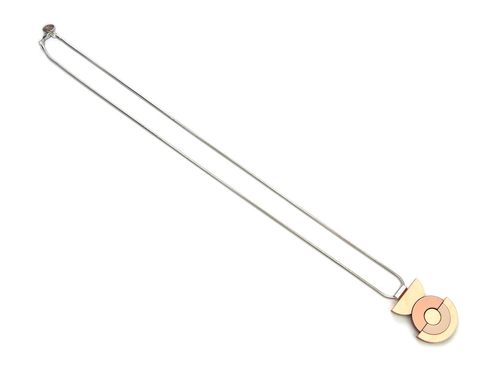 Image of Concentric Circle Necklace - Rose