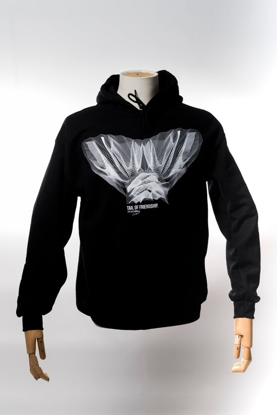 Image of Monkey Climber Tail of Friendship hoodie I Black