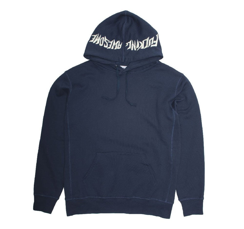 Image of FUCKING AWESOME EMBROIDERED LOGO HOODIE