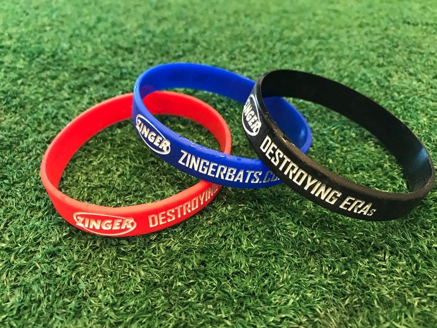 """Image of Zinger """"Destroying ERAs"""" Wristbands - 3 Pack"""