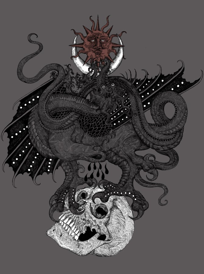 """Image of Sun, Moon and the Lindworm Dragon"""""""