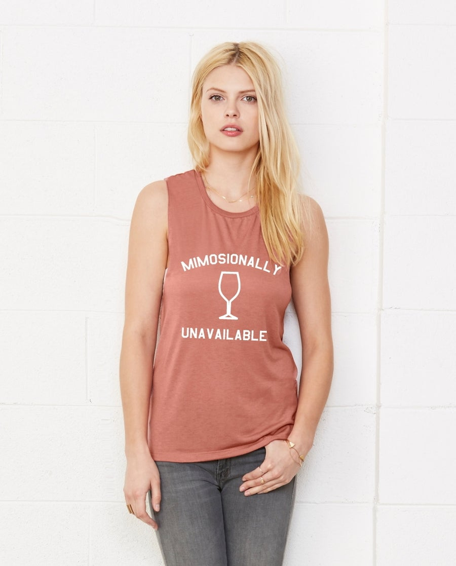 Image of MIMOSIONALLY UNAVAILABLE - muscle tanks