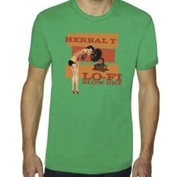 Image of Lo-Fi Blow Dry T shirt - Green