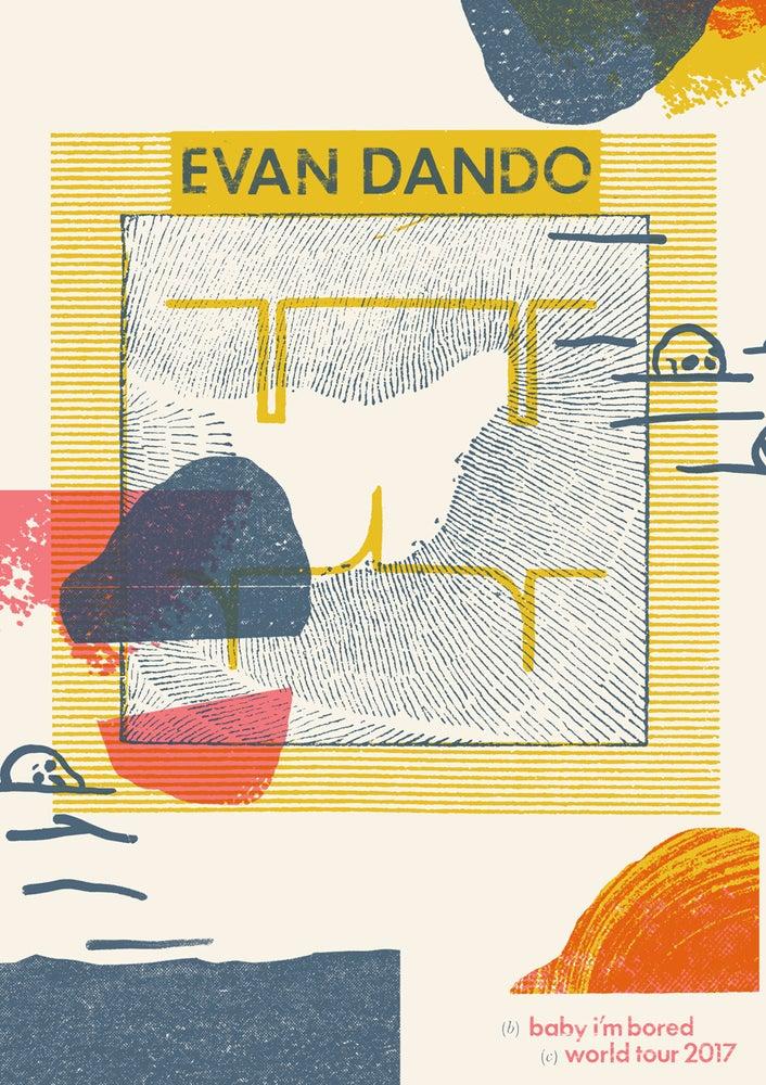 Image of Evan Dando - Baby I'm Bored World Tour 2017 Poster