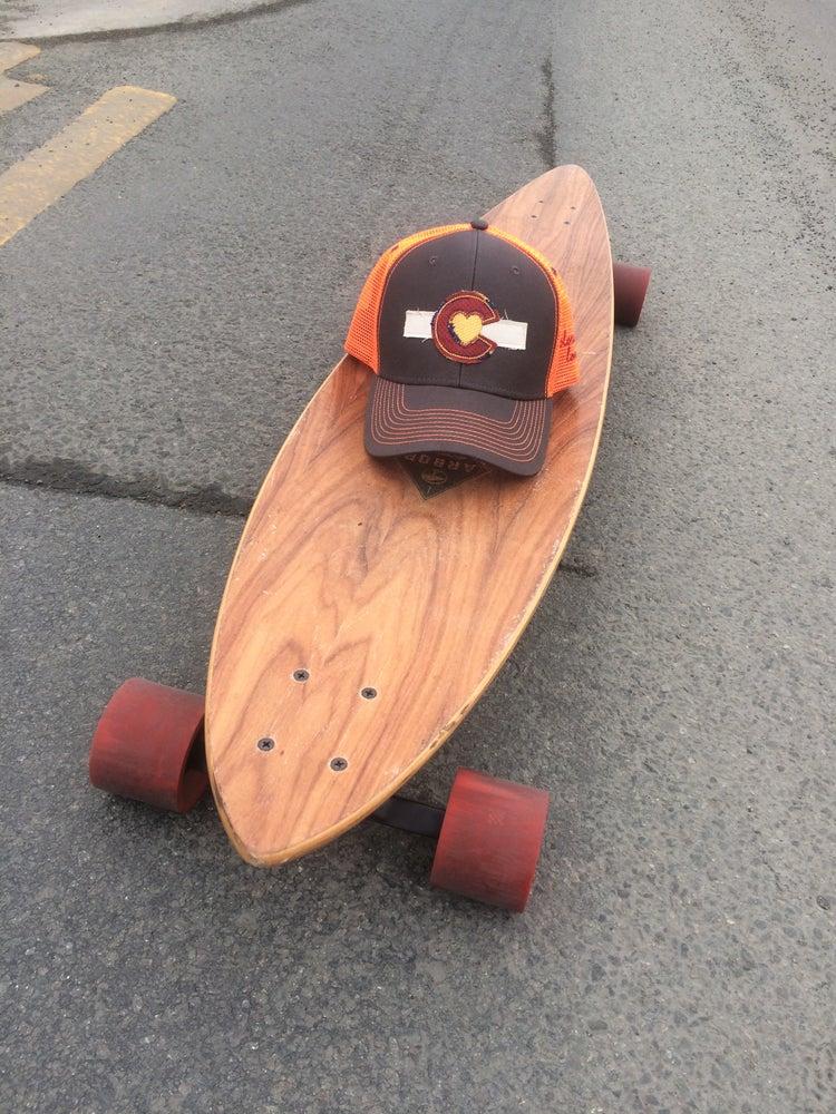 Image of Colorado Love Trucker Hat- Grey/ Orange