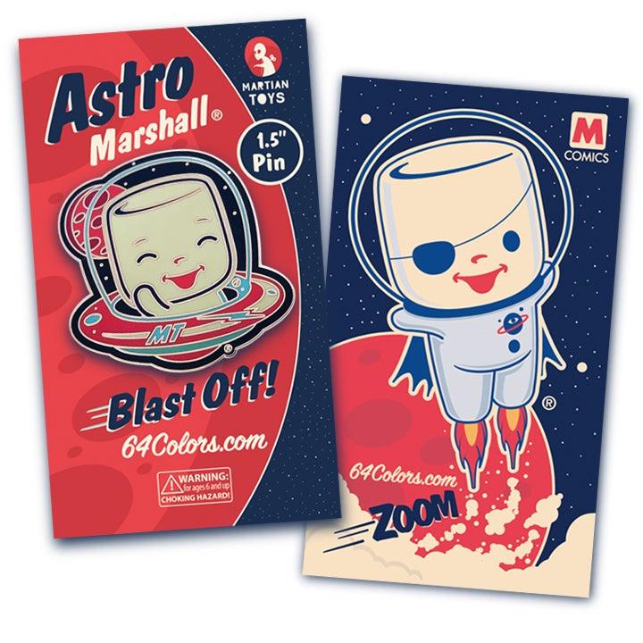 Image of Astro Marshall Enamel Pin