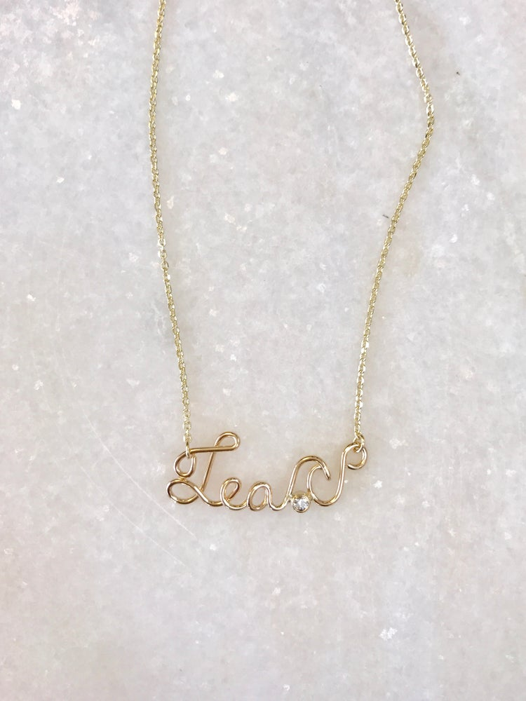 Image of Custom Order Wire Name Necklace