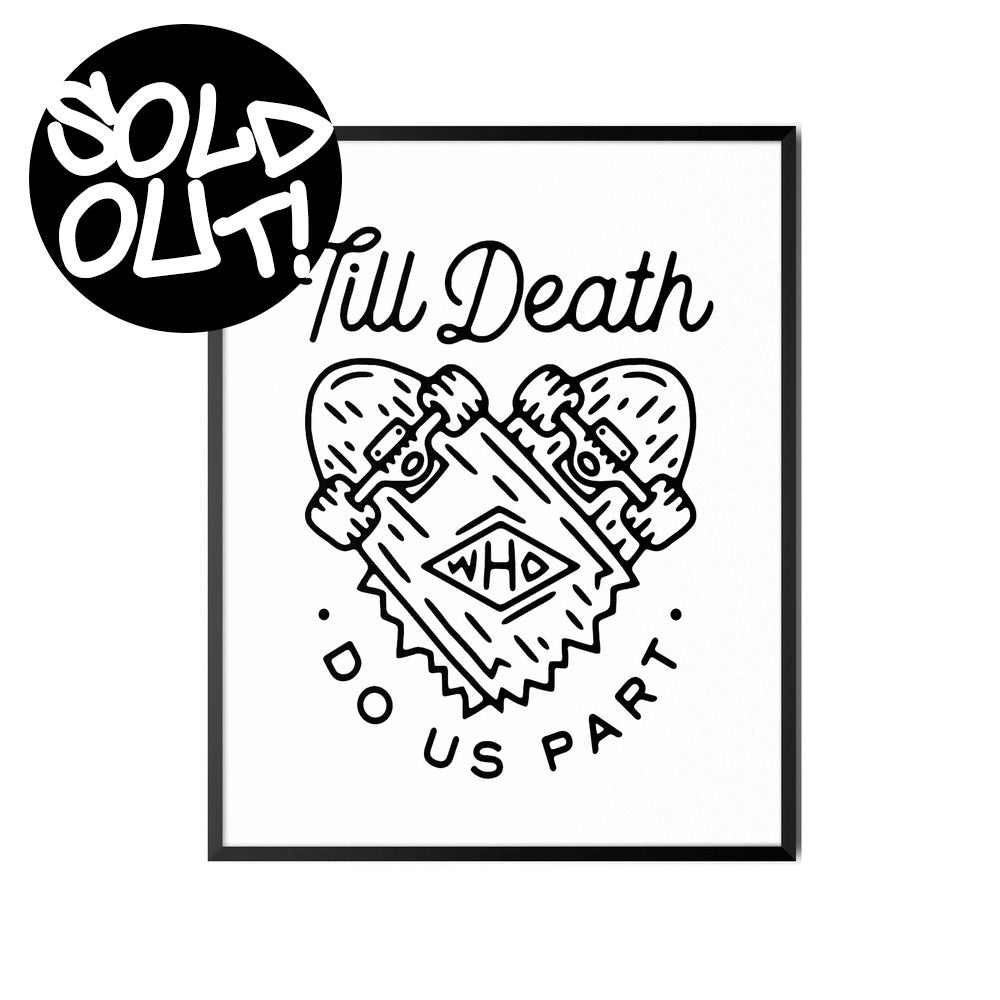 Image of TILL DEATH A3 PRINT