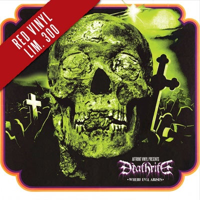 """Image of [affro004] DEATHRITE – Where Evil Arises 7"""" (Red Vinyl)"""