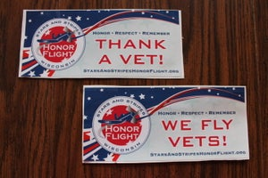 "Image of Bumper Stickers--""We Fly Vets!"" or ""Thank a Vet!"""