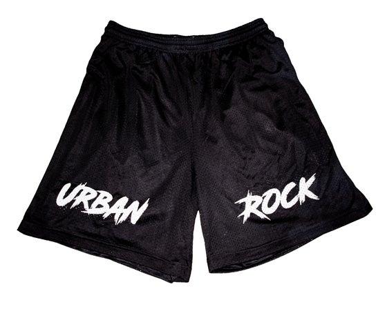 Image of Urban Rock Basketball Short - Black & White