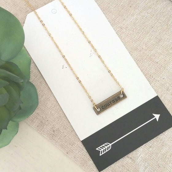 Image of Courage Bar Necklace