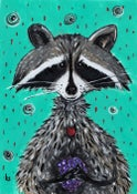Image of Kevin Seconds ORIGINAL 5x7 Acrylic on paper, 'Wrigley The Lulucoon'