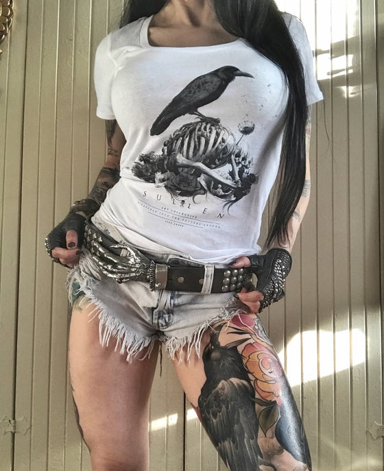Image of Disappear into the potters ground Sullen T Shirt for women