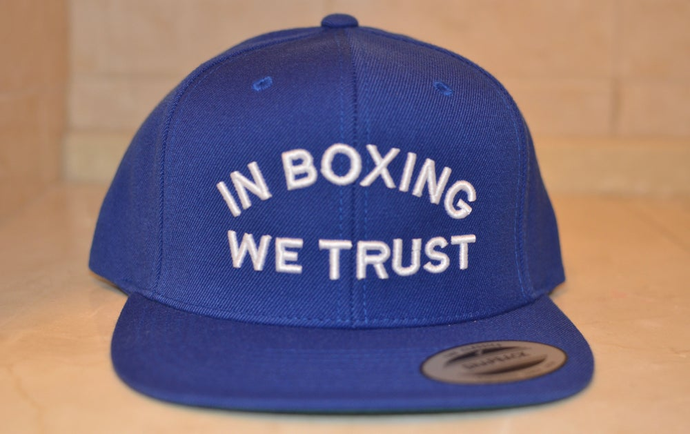 Image of Royal Blue In boxing we Trust SnapBacks