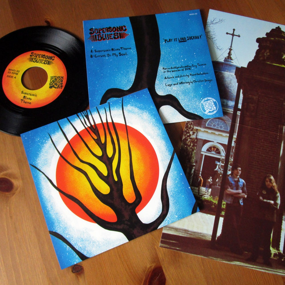 """Image of SUPERSONIC BLUES - 'Supersonic Blues Theme / Curses On My Soul' 7"""" Vinyl"""
