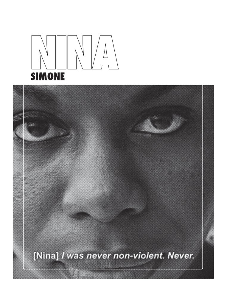"""Image of Nina Simone """"Never Been Non-Violent"""""""