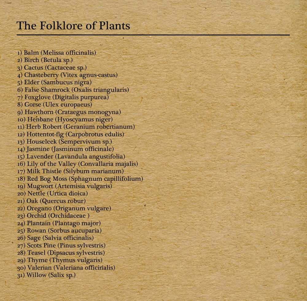 Image of The Folklore of Plants Vol.I
