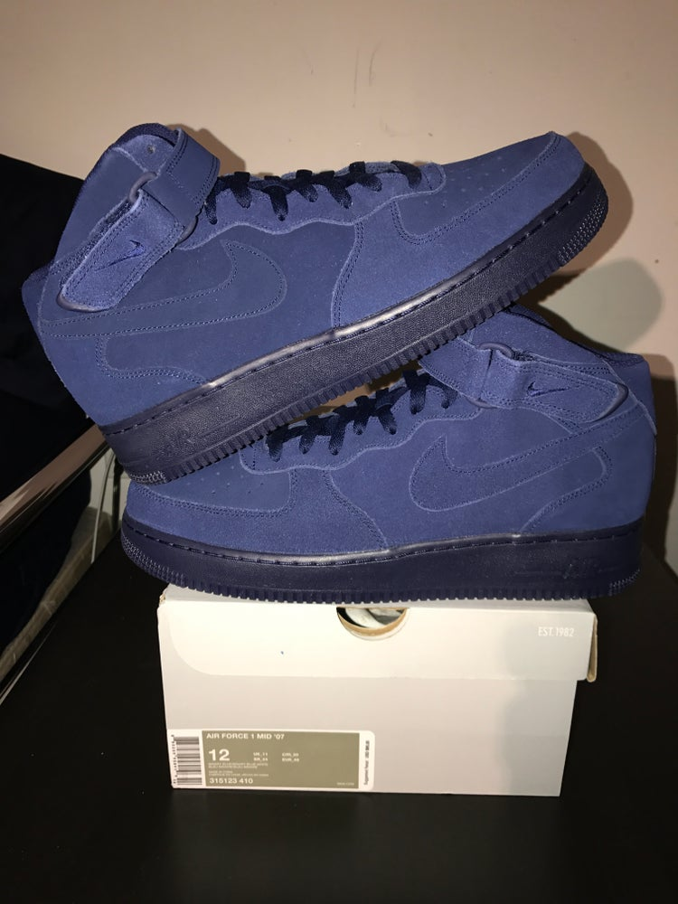 """Image of Nike Air Force 1 Mid """"Binary Blue"""""""