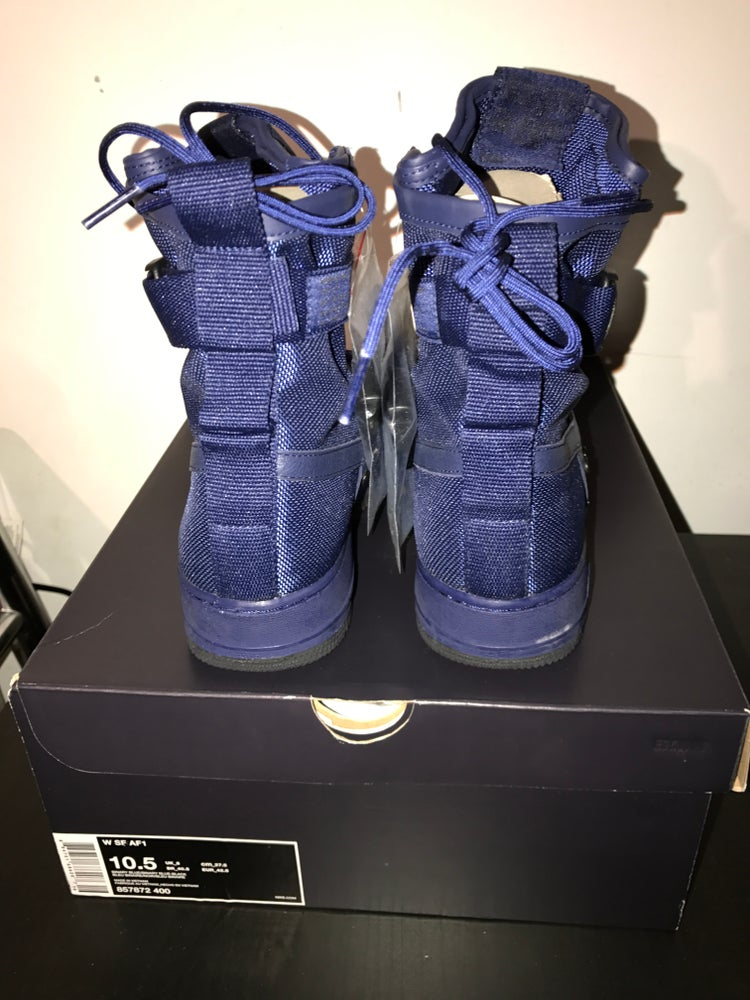 """Image of Women's Nike Special Forces AF1 """"Binary Blue"""""""
