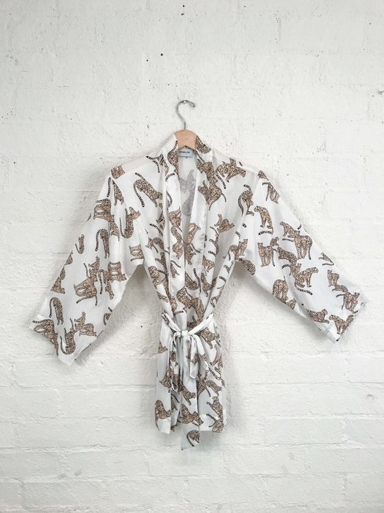 Image of Sam & Lavi Silky Cheetah Print Wrap