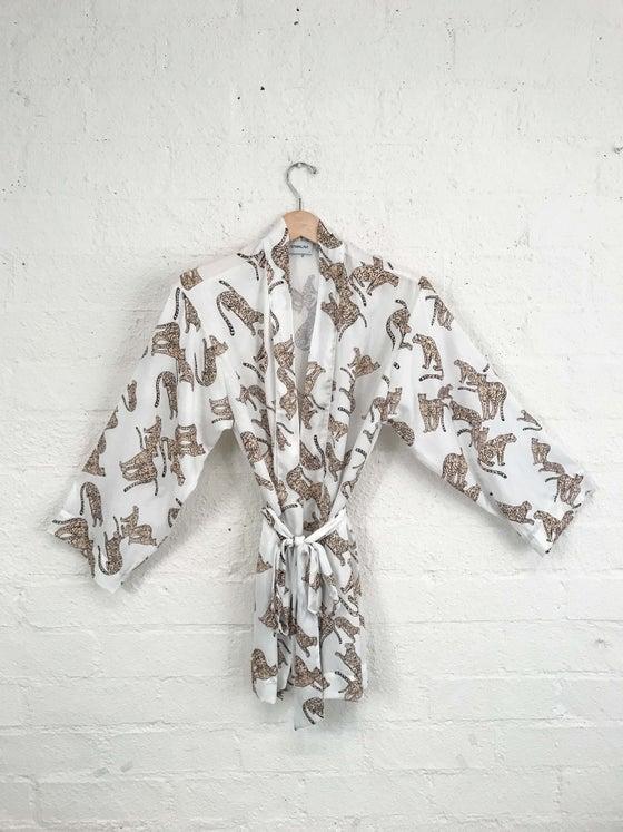 Image of Sam & Lavi Silky Cheetah Print Wrap