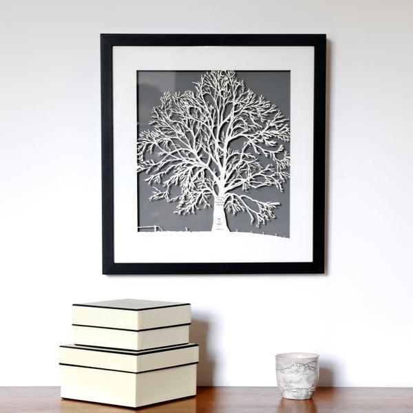 Image of Framed Family Tree