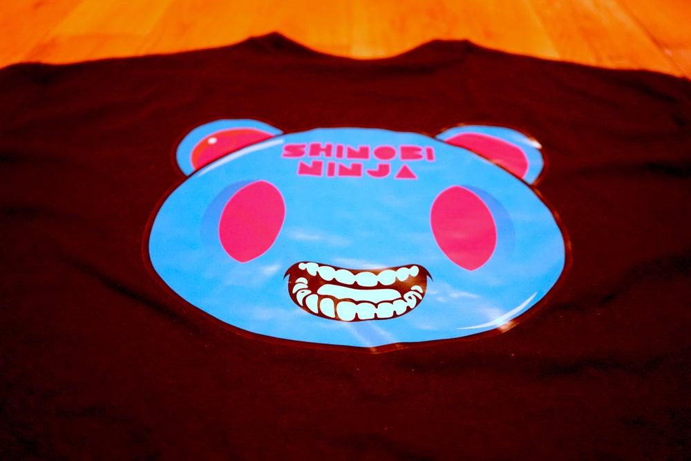 Image of Black Shinobi Ninja Logo Front - Ninja Mouse Back