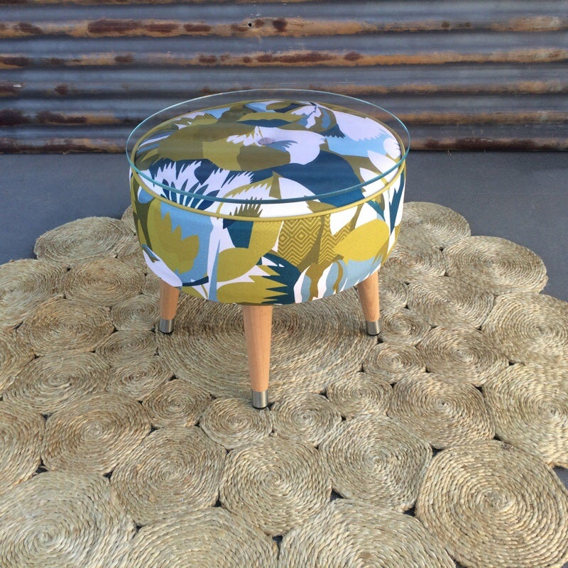 Image of Mackenzie Mustand Side Table / Footstool