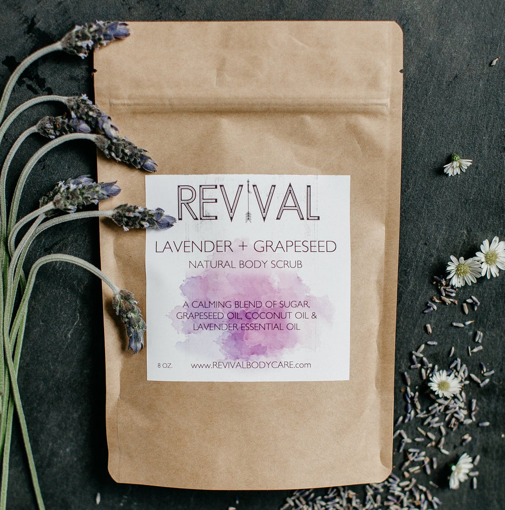 Image of LAVENDER + GRAPESEED BODY SCRUB