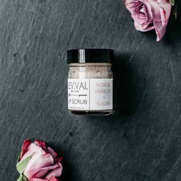 Image of ROSE & VANILLA + SUGAR LIP SCRUB