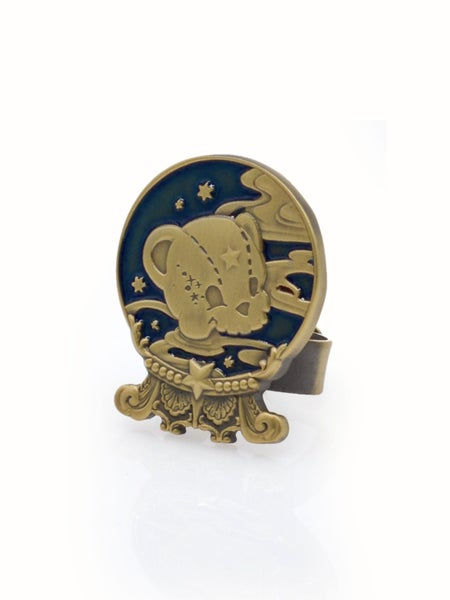 Image of Kuma's Crystal Ball Ring · Navy