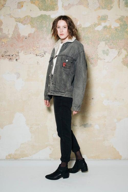 Image of Sheepskin Denim Jacket