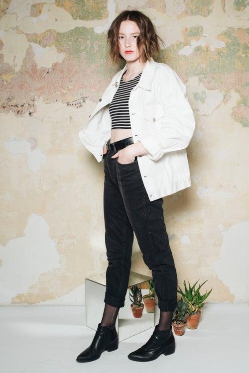 Image of Stone Island White Denim Jacket