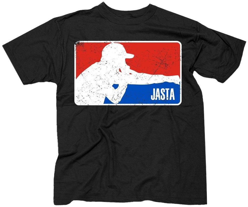 """Image of JASTA """"MLB Style Logo"""" Black T-Shirt - Short Sleeve"""