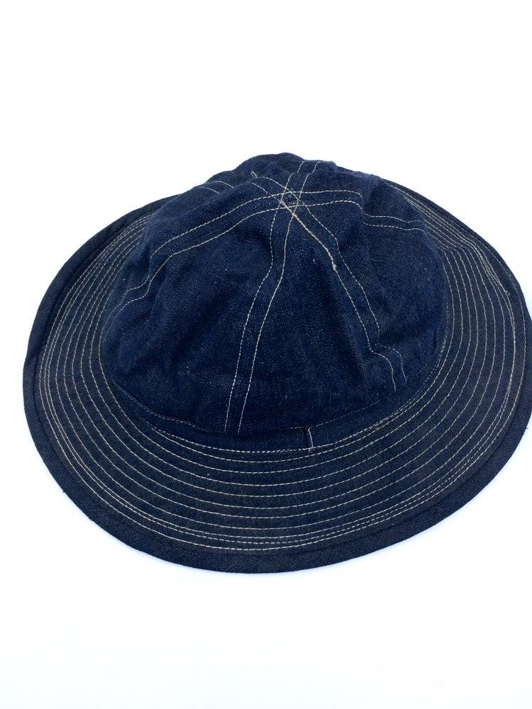 Image of VINTAGE WWII ERA DAISY MAE DENIM HAT