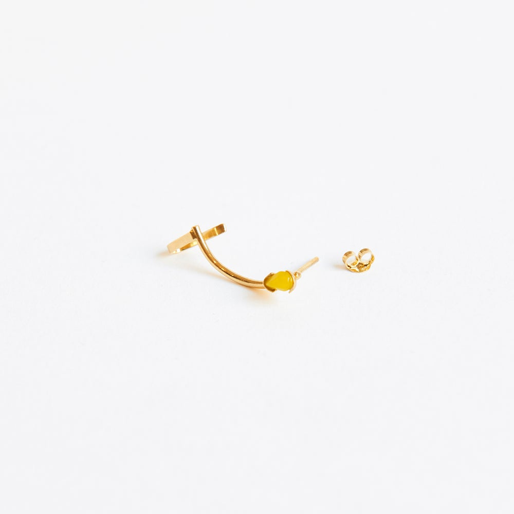 Detalle de Six Single curve cuff earring