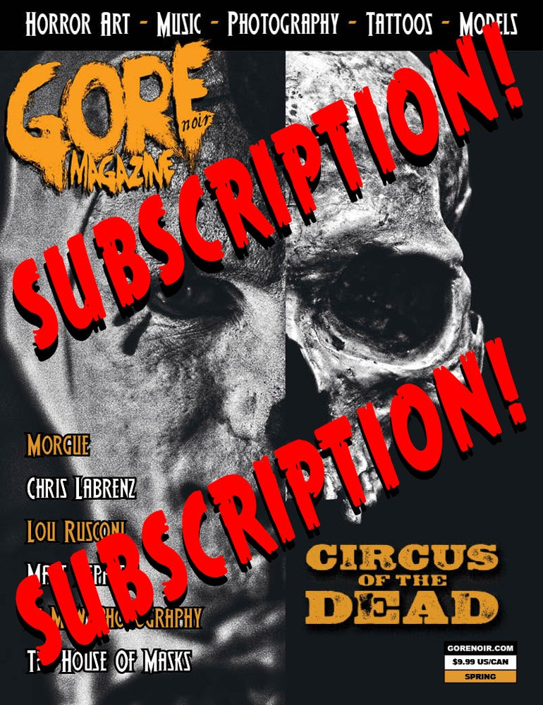 Image of 4 issue subscription Including Coffin Issue and FREE DVD!!