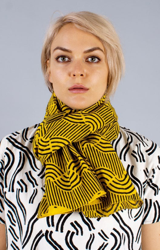 Image of MILKY WAVE CHADOR (yellow/black)