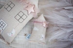 Image of Teeny Tiny cushion - Moon & Stars in Copper