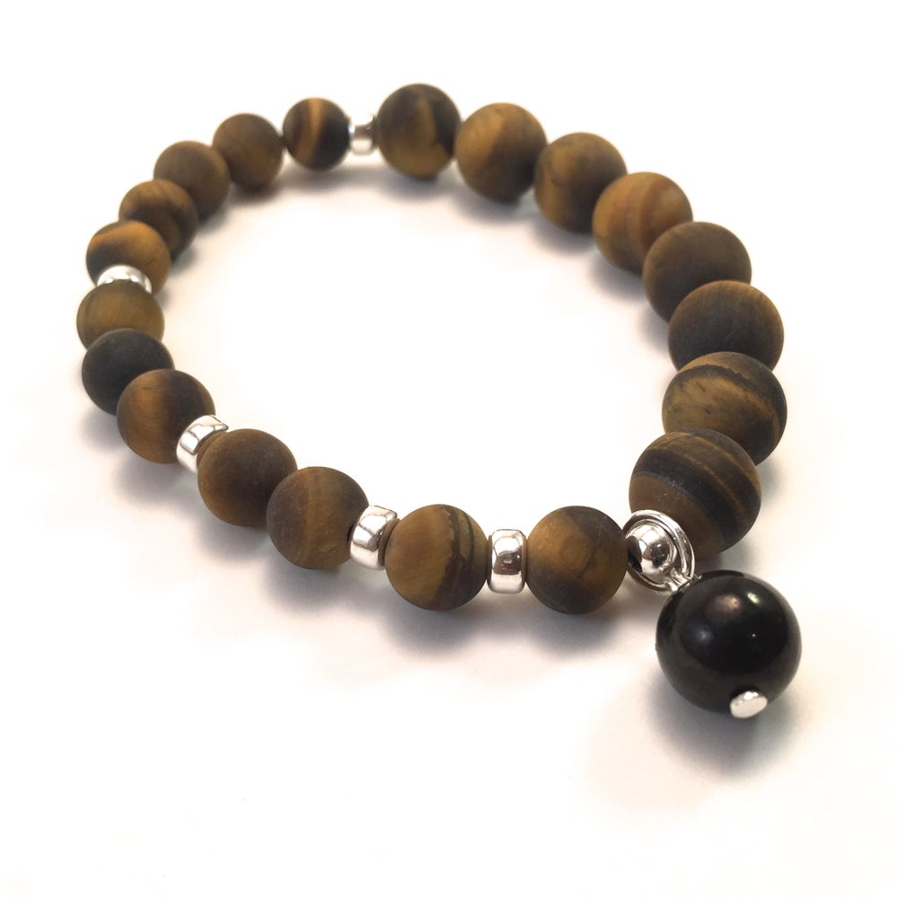 Image of New! Raw Tiger Eye Infinity Wrist Malas