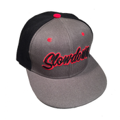 Image of Slowdown Snap Back Black and Grey