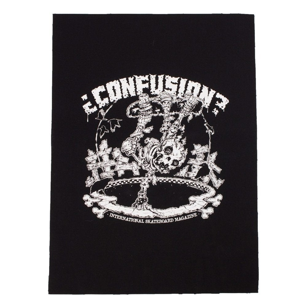 Image of POOL SKELETON - Confusion back patch