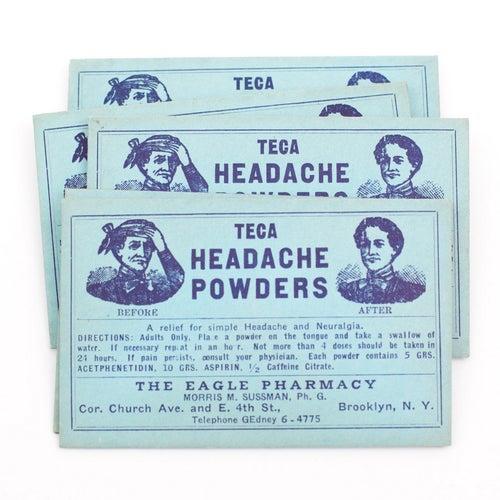 Image of Vintage Pharmacy Labels in Medicine Envelope